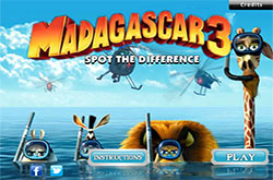 Madagascar 3 spot the difference